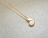 Ariel, Gold, Silver, Rose gold, Seashell, Necklace, Little mermaid, Cute, Simple, Seashell, Birthday, Friendship, Gift, Accessory, Jewelry