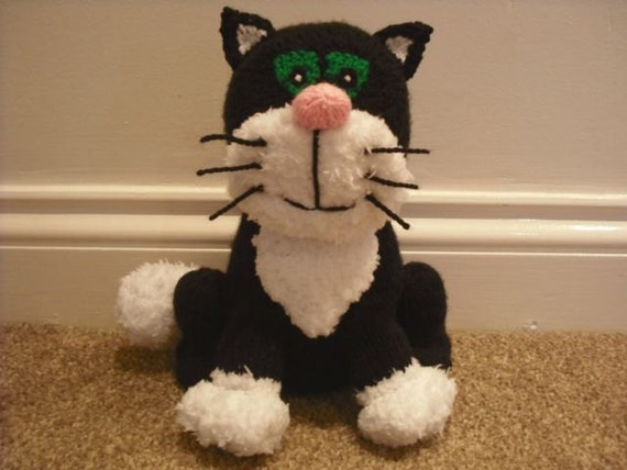 Knitting Pattern For Jess The Cat : Jess the Cat Knitted Toy from Postman Pat made from an Alan