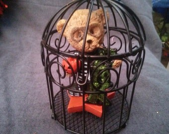 Halloween Teddy Bear w/costume in Cage #2