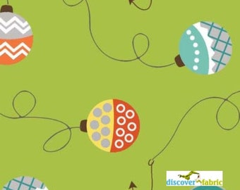 Green Lures - Here Fishy, Fishy - By Heather Peterson- Henry Glass Fabrics - Designer Fabric By the Half Yard