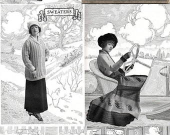 Fleisher's Knitting & Crochet Manual / Early 1900's Fashions to Die For 1916