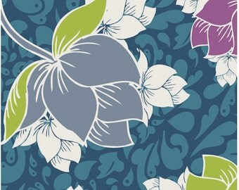 Teal Wall Paper fabric, Spellbound for Art Gallery Fabrics - 1 yard