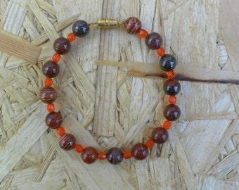 Bracelet in Jasper and glass beads