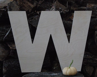 unfinished 18 inch wooden letter wood letter w arial font 12 thick baltic birch wedding birthday photo prop nursery craft 18