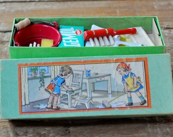 A truly Nostalgic Toy. What all children need to copy Mummy..(or Daddy)................. A Toy Cleaning Set!