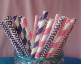25 Doc Mcstuffins Themed Party Paper Straws