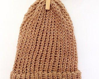 Baby Gold Knitted Hat