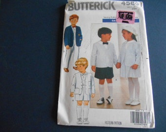 Butterick 4580, Child's Suit, Skirt, Jacket,   size 4, 5, 6