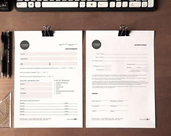 original clean photography forms set of 5 - Instant download
