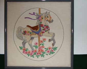 Hand-Embroidered Carousel Horse