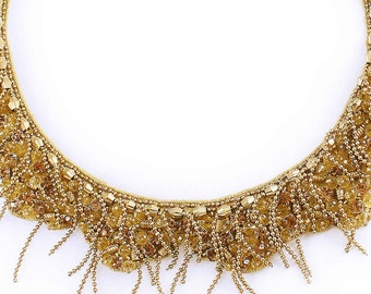 Gold Dust Beaded Necklace UMH-N00019