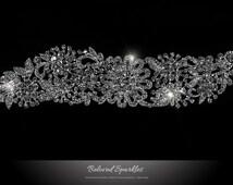 Bridal Hair Comb, Crystal Vintage Flower Cluster Wedding Hair Comb, Floral Art Deco Rhinestone Hair Piece, Crystal Cluster Head Piece