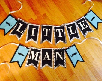 Little Man baby shower banner,mustache birthday banner,mustache bash!