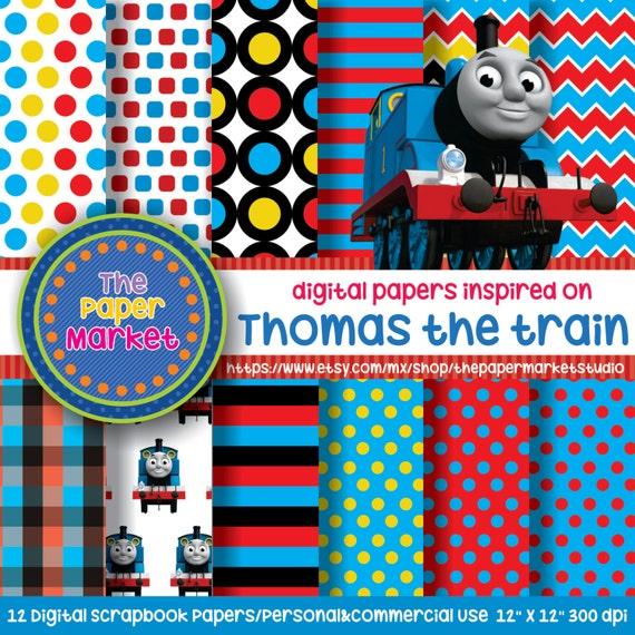 thomas the train polka dot backgrounds by thepapermarketstudio Percy the Train Toys Thomas Train Photo Booth Props