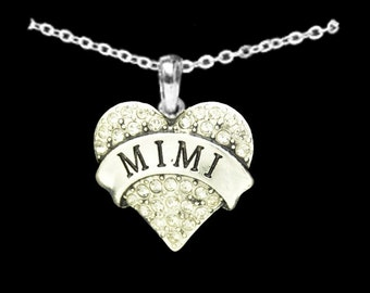 Mimi Rhinestone Heart Charm Necklace