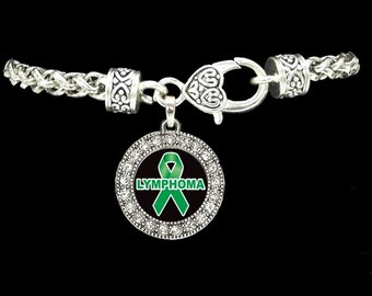 Lymphoma Awareness Ribbon Bracelet