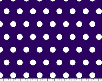 Royal Blue Polka Dot  Fabric,  Fabric by the Yard, sewing fabric, quilt fabric