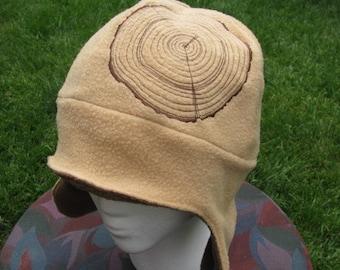 Wood Rings Fleece Ear Flap Hat