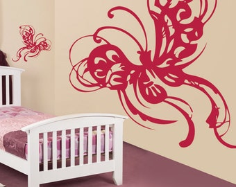 Abstract Butterfly Wall Decal Art Home Decor Vynil Office Living Room Front Desk Children Kids room