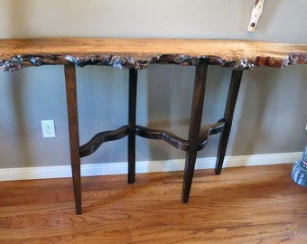 Spalted Maple and Acacia Sofa / Entry Hall Table