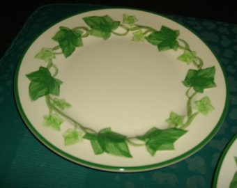 Two Vintage Marked Francisican Plates/ Ivy Pattern