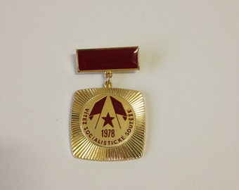 Czechoslovakia 1978 Winner of socialist competition Medal