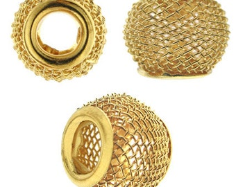 16 mm Beadelle Gold Plated Mesh Bead (25 pc)