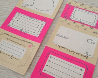 Set of 6 label stickers with doodles (ST03)