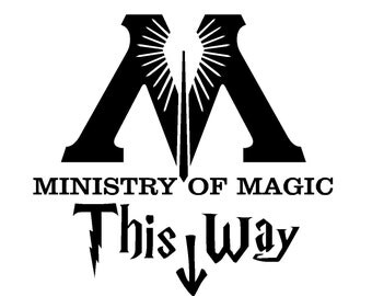 MINISTRY OF MAGIC This Way   Funny Toilet/Bathroom Sticker