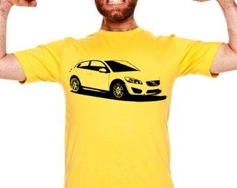 Car T-shirt C30 VOLVO gift present hatchback manualna półautomatyczna automatyczna AUT086