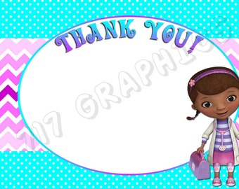 Doc McStuffins 4x6 Thank You Card - Printable