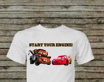 Cars McQueen and Mater Iron On Transfer DIY Instant Download