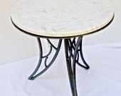 Italian Occasional Marble Low Table with Metal Base