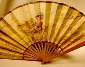 Antique French Art Noveau Fan for Hotel Pontchartrain