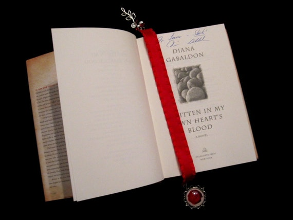 Ribbon bookmark inspired by Diana Gabaldon's Written in My Own Heart's Blood/MOBY from the Outlander series