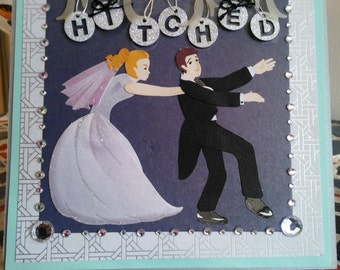 Hitched Wedding Card