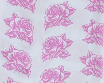 Pink Rose Fabric by the Yard
