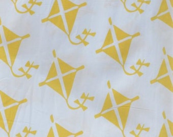 Yellow Kite Fabric by the Yard