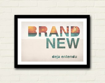 Brand New Band Poster 11 X 17 Art Print, Deja Entendu, Astronaut