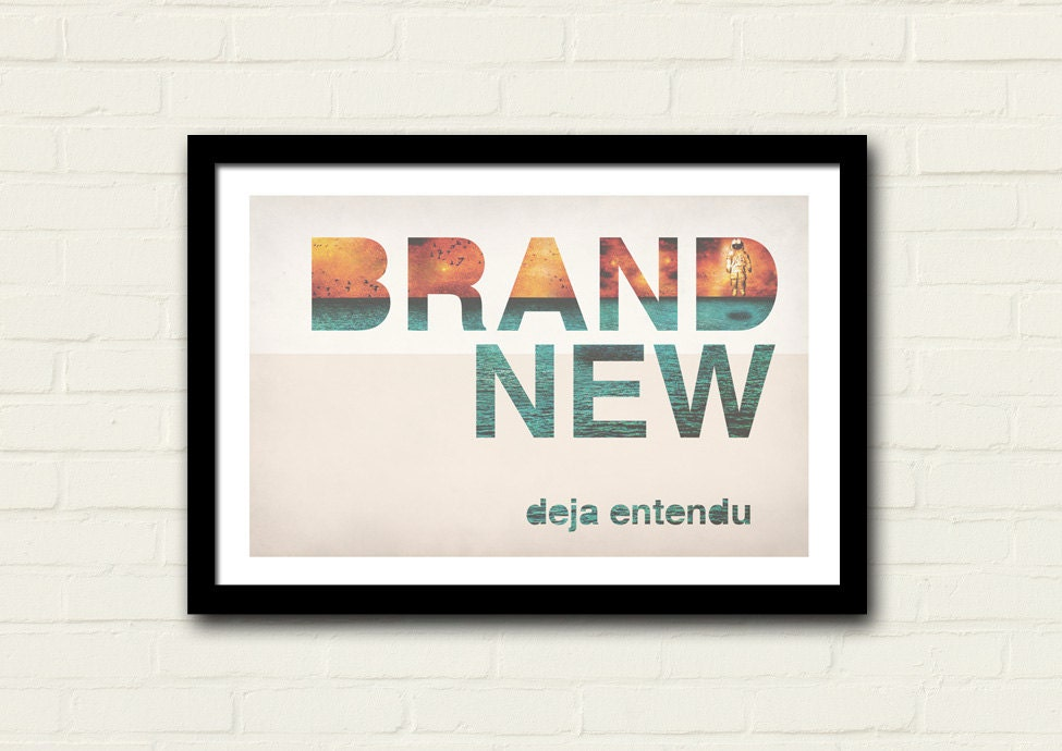 Brand New Band Poster 11 X 17 Art Print Deja Entendu