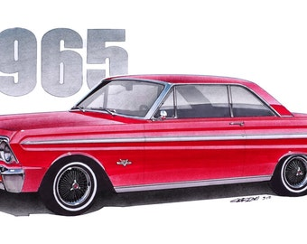 1965 Falcon Sprint 12x24 inch Art Print by Jim Gerdom