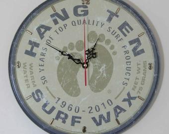 Hang Ten ( Surfing ) Wall Clock - 11.75 Diameter - New