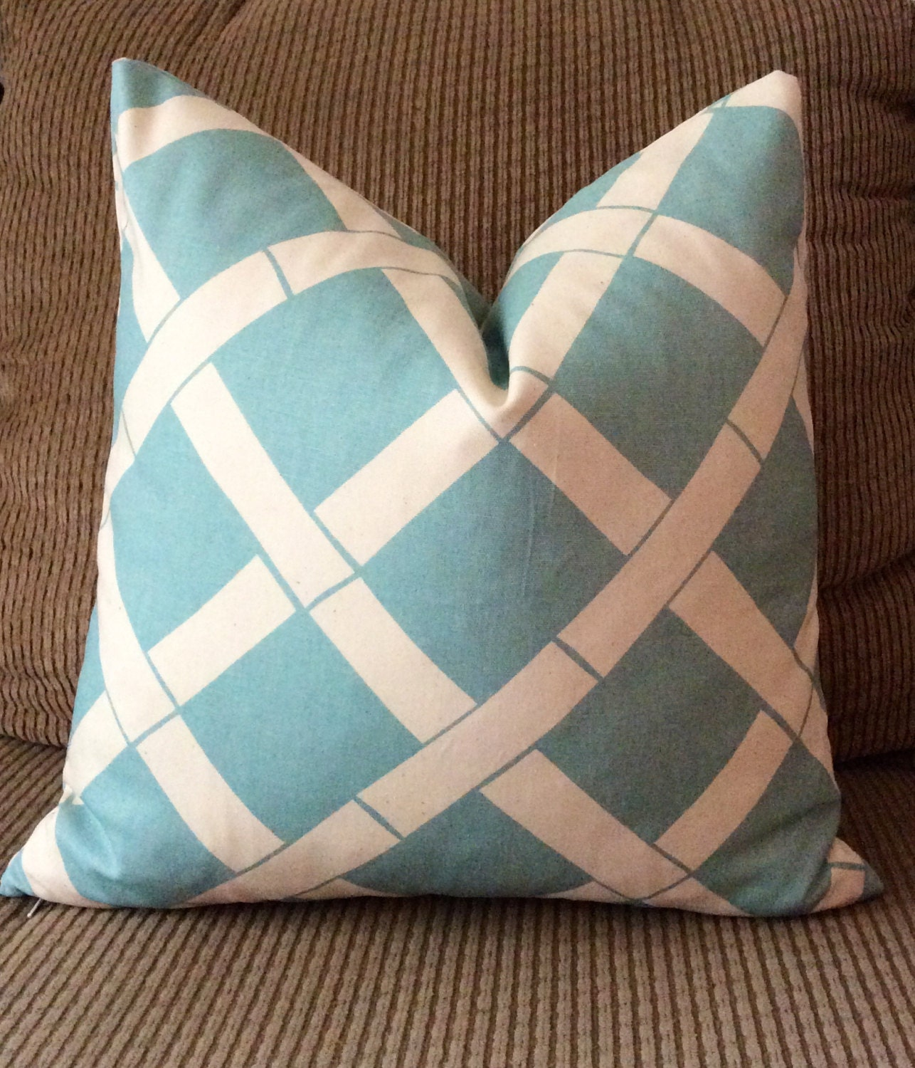 Sky Blue Decorative Pillows : Handmade Decorative Pillow Cover Sky Blue Bamboo Premier