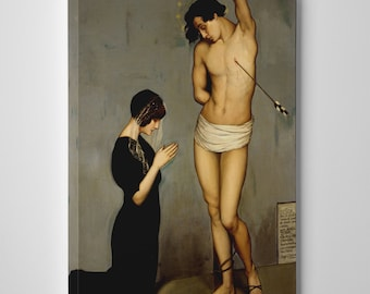Votive Offering (Saint Sebastian) by Angel Zarraga. Gallery Wrapped Canvas Print