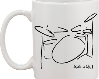 Drumset Coffee Mug - 5 piece (2 up)