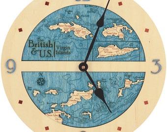 """Virgin Islands  12"""" Clock"""