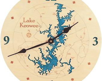 """Lake Keowee, South Carolina  12"""" Clock"""
