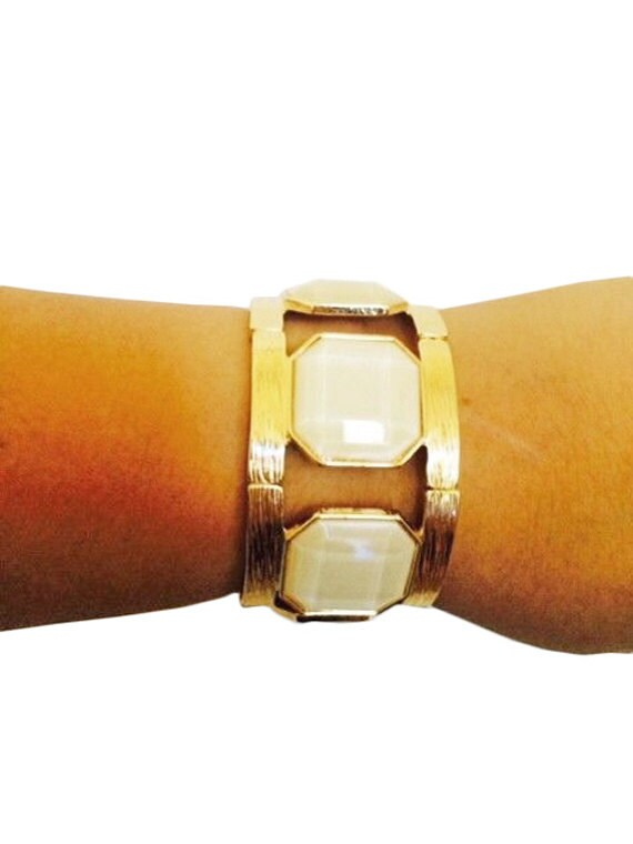 Fitbit Bracelet for Fitbit Flex - EMILY Gold and White Stone Fitbit Bracelet - FREE SHIPPING