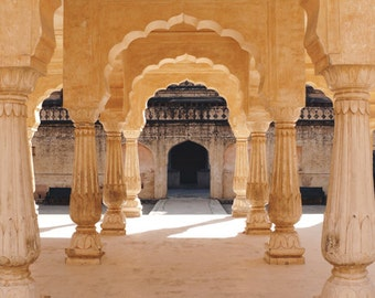 Indian Photography - Indian Arch Photo, 24x36 20x30 16x20 8x10 5x7 fine art wall decor, wall art, india columns arches architecture photo