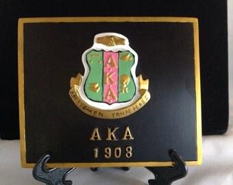Alpha Kappa Alpha Crest Art Plaque